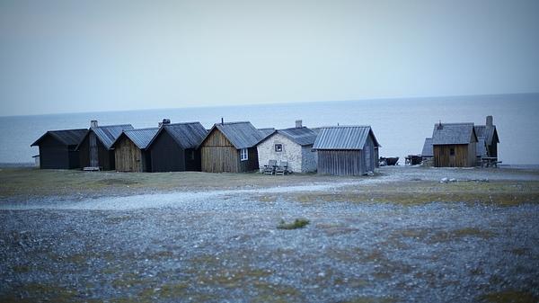 Houses On Beach Against Clear Sky At Dusk Photograph by Alessandro Miccoli / EyeEm