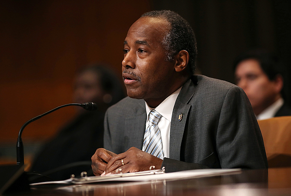 Housing And Urban Development Secretary Ben Carson Testifies To Senate Committee On Departments Budget Photograph by Win McNamee