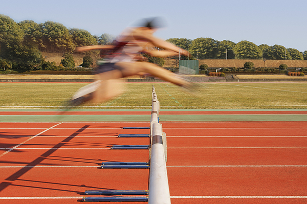 Hurdlers Hurdling Hurdles Photograph by Takuya Matsunaga/Aflo
