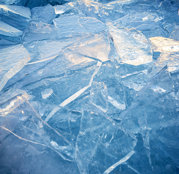 Ice Abstract Photograph by Marlene Ford