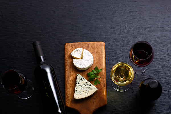 Image of Cheese and wine Photograph by Taa22