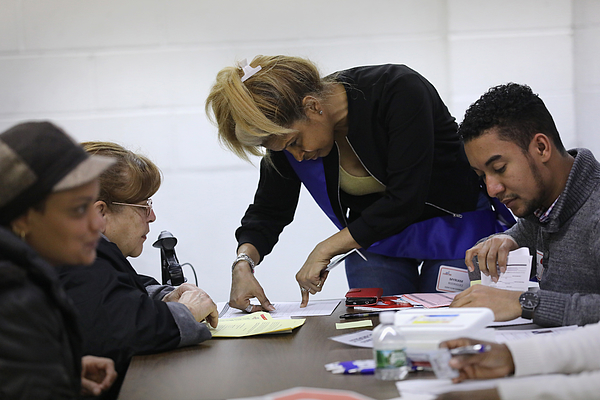 Immigrants Attend Citizenship Application Assistance Event In The Bronx Photograph by John Moore