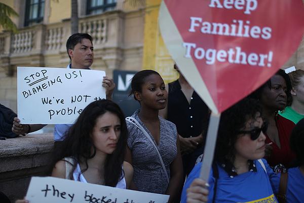 Immigration Activists Speak Out Against Supreme Court Immigration Ruling Photograph by Joe Raedle