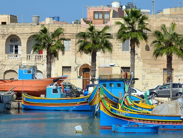 In the harbour of Marsaxlokk, Malta Photograph by Frans Sellies