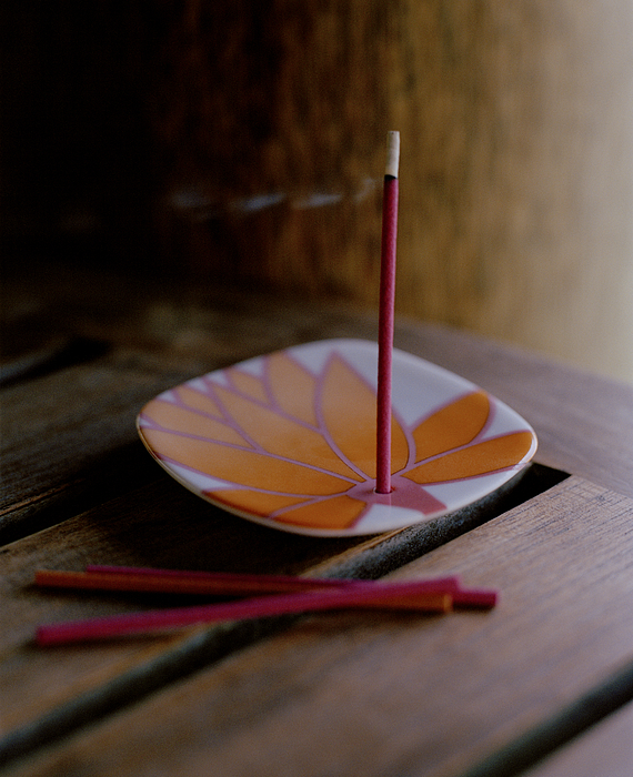 Incense Stick On Plate Photograph by Luxy Images