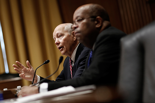 IRS Commissioner John Koskinen Testifies To Senate Hearing On IRS Data Theft Photograph by Win McNamee