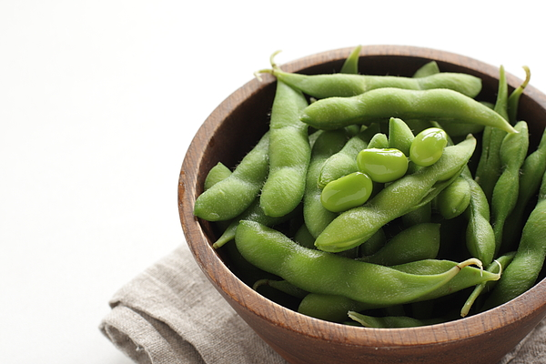 Japanese food, boiled soy bean in bowl for healthy eating Photograph by Jreika