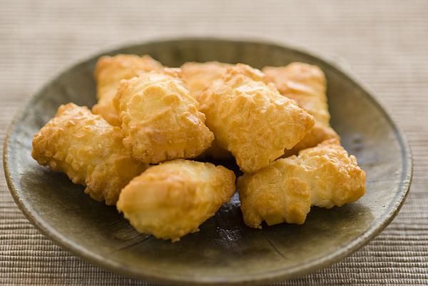Japanese rice cracker Photograph by Kazuko Kimizuka