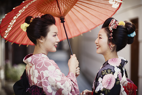 Japanese Sisters Photograph by RichVintage
