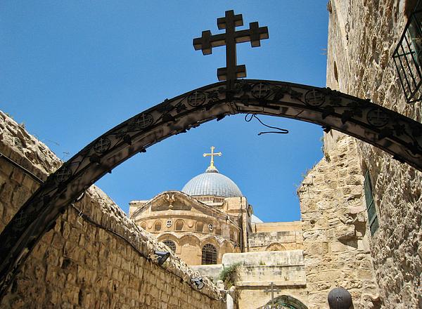 Jerusalem church Photograph by B. Kim Barnes; Oakland, California