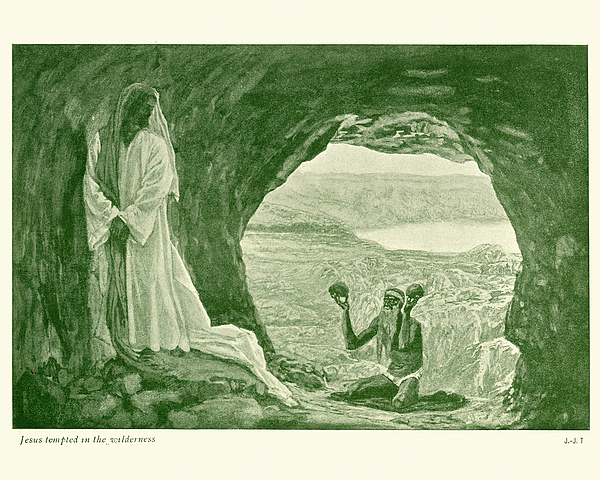 Jesus tempted in the Wilderness Drawing by Duncan1890