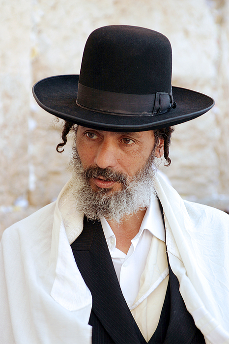 Jew at the Western Wall, Jerusalem, Israel Photograph by Boryak