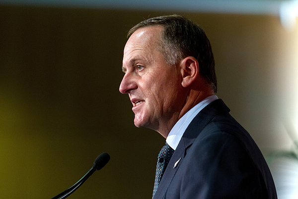 John Key Delivers State Of The Nation Speech Photograph by Geoff Dale