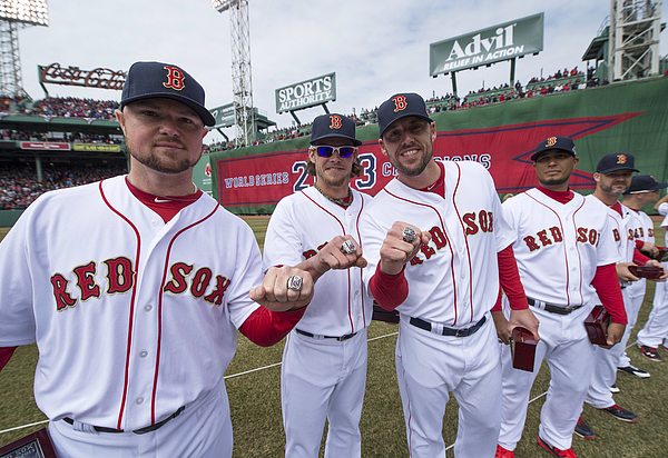 Jon Lester, John Lackey, and Clay Buchholz Photograph by Michael Ivins/Boston Red Sox