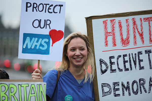 Junior Doctors Stage Second All Day Strike Over Pay And Conditions Photograph by Dan Kitwood