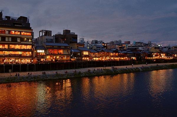 Kamogawa River In The Evening Photograph by Kaoru Hayashi