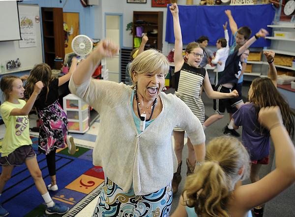 Karen Renton is retiring after a 32-year career as a music teacher... Photograph by Portland Press Herald
