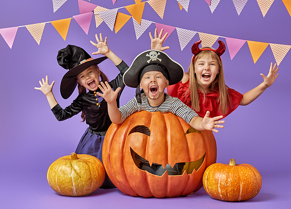 Kids At Halloween Photograph by Choreograph