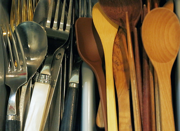 Kitchen Utensils And Cutlery Photograph by Kumacore