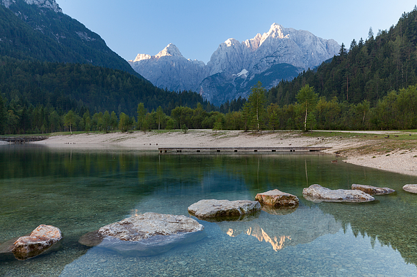 Lake Jasna Photograph by Wolfgang Wörndl