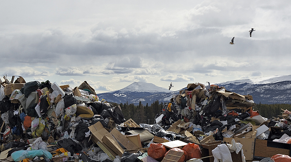 Landfill and Mountain Photograph by Richard Legner