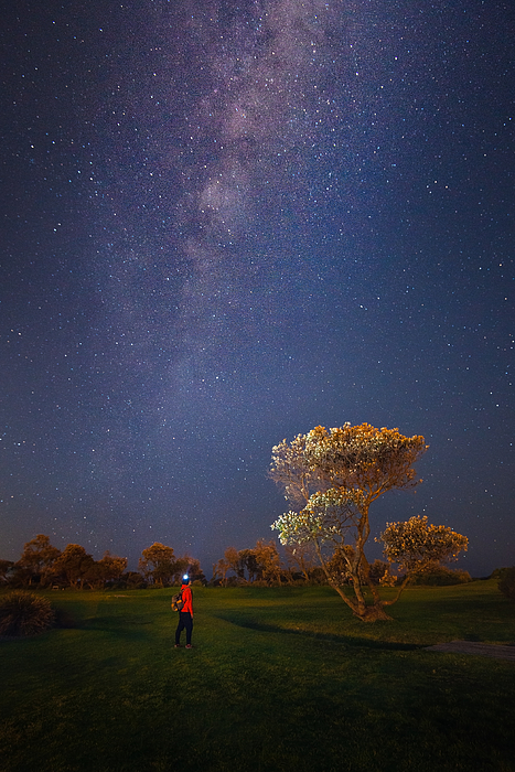 Landscape with Milky Way. Photograph by Brook Attakorn