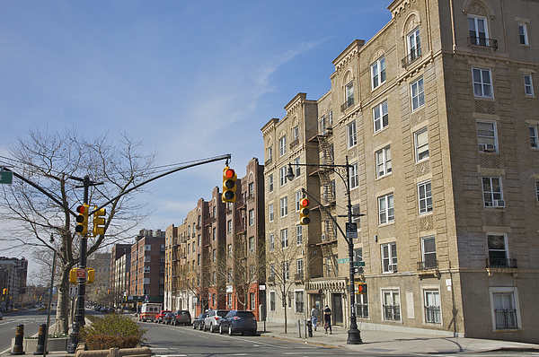 Large apartment buildings facing boulevard Photograph by Barry Winiker
