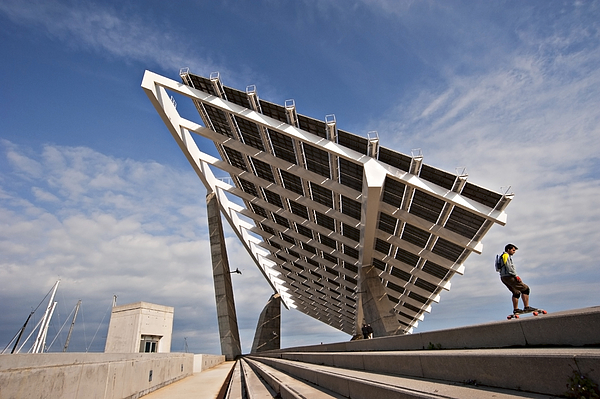 Large Photo-Voltaic Panel at El Forum in Barcelona Photograph by Tracy Packer
