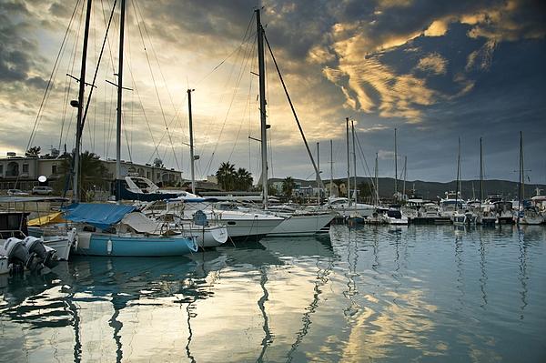 Latchi Village Harbour Photograph by Paul Biris