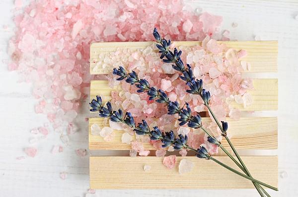 Lavender bath salt Photograph by Anna-Ok