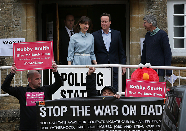 Leader Of The Conservative Party, David Cameron, Casts His Vote As The UK Goes To The Polls Photograph by Peter Macdiarmid