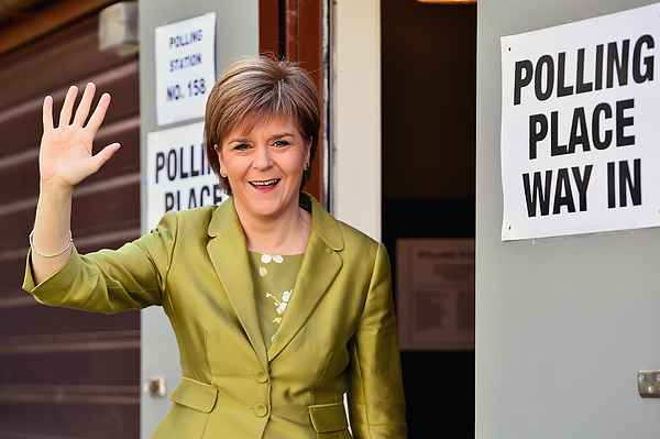 Leader Of The SNP, Nicola Sturgeon, Casts Her Vote As The UK Goes To The Polls Photograph by Jeff J Mitchell