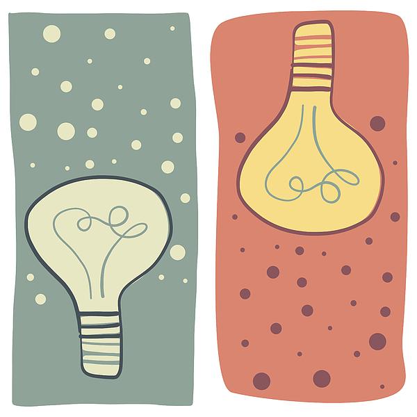 Light bulb illustrations Drawing by Calvindexter