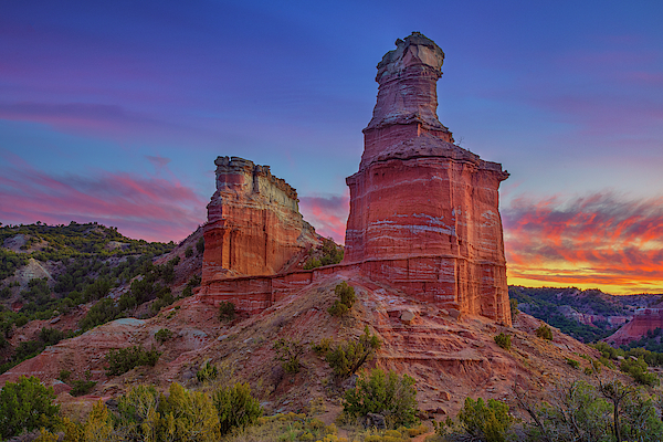 Lighthouse at Palo Duro Canyon Sunset 124-1 Photograph by ...