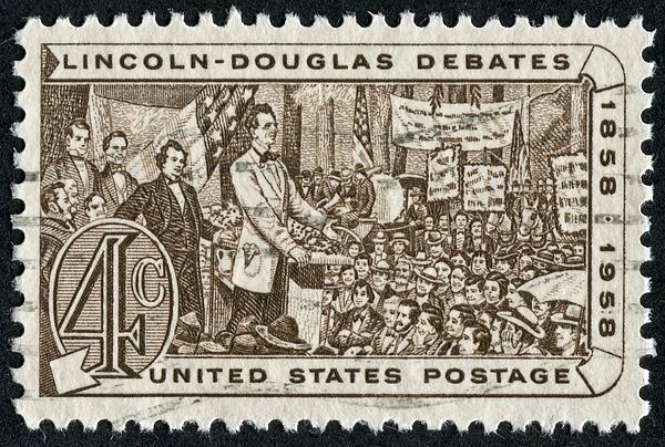 Lincoln - Douglas Debates Stamp Photograph by Traveler1116
