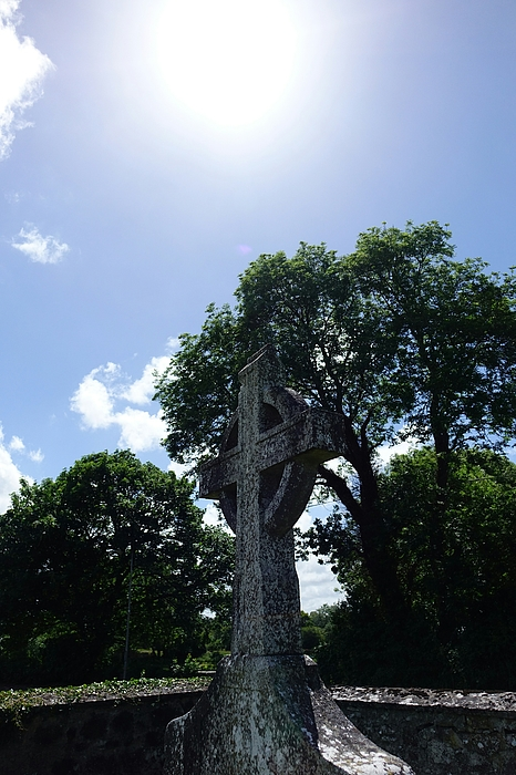 Low Angle View Of Cross In Cemetery And Trees Against Sky Photograph by Elyse Fournier / EyeEm