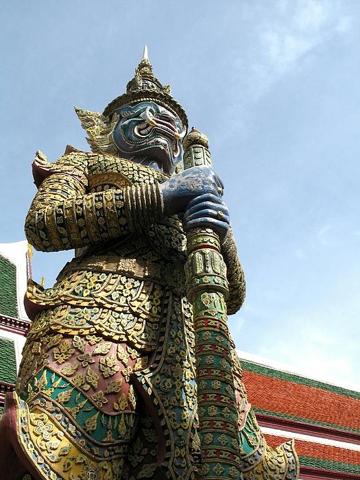 Low Angle View Of Demon Statue Against Sky At Wat Phra Kaew Photograph by Manita Charoenpru / EyeEm
