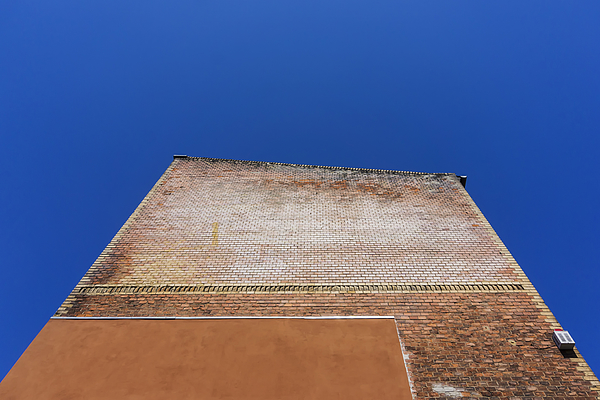 Low Angle View Of Old Brick Wall Photograph by Ingo Jezierski