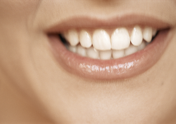 Lower Section Of Womans Face, Toothy Smile, Extreme Close-up Photograph by Isabelle Rozenbaum