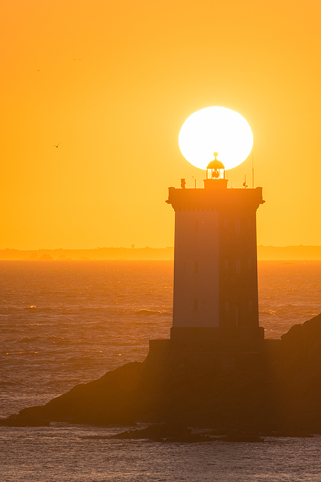 Magic Sunset In Le Conquet Behind The Lighthouse Photograph by MathieuRivrin