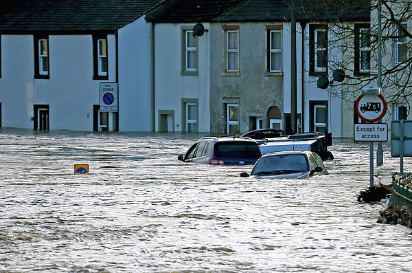 Major Incident Declared As Storm Desmond Wreaks Havoc In Cumbria Photograph by Christopher Furlong