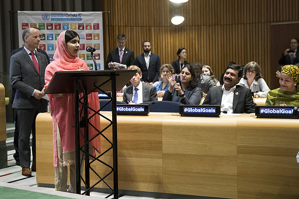 Malala Yousafzai Elevated To United Nations Messenger Of Peace Photograph by Drew Angerer