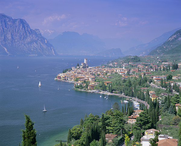 Malcesine, Lago Di Garda Lake Garda, Italian Lakes, Trentino-alto Adige, Italy, Europe Photograph by Gavin Hellier / robertharding