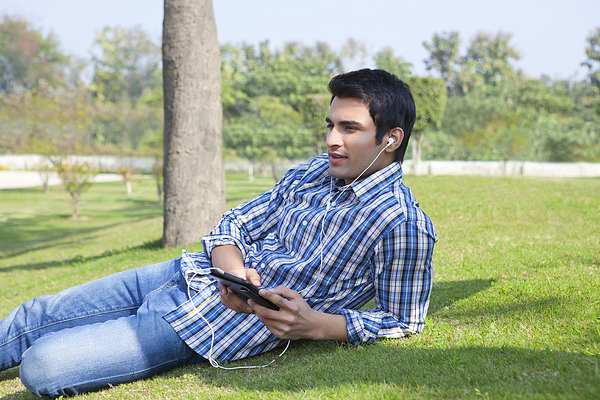 Man listening to music Photograph by Ravi Ranjan