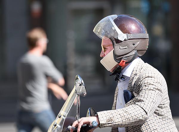 Man riding mc traffic Photograph by Olaser