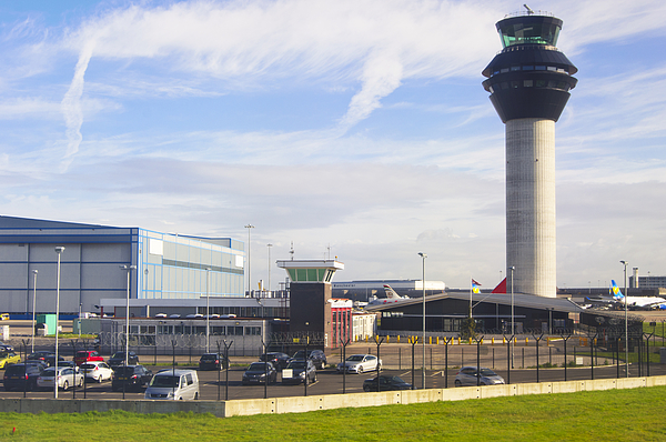 Manchester airport. Photograph by Mark Williamson