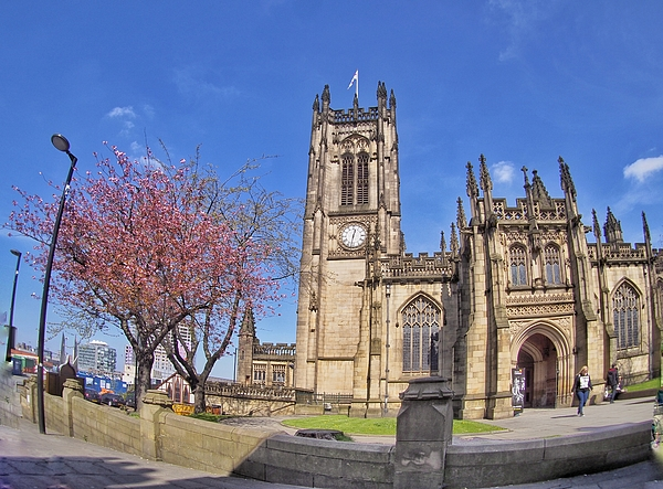 Manchester Cathedral Photograph by Raspu