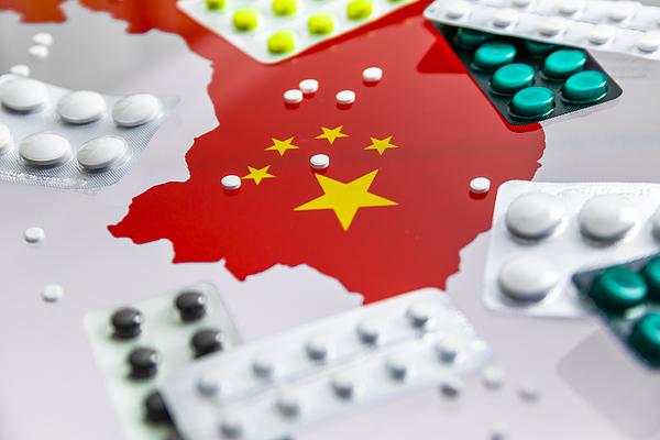 Map of China with pills. China, Wuhan. Novel coronavirus 2019-nCoV. Photograph by Anton Petrus