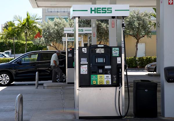 Marathon Petroleum To Purchase Hess Gas Stations Photograph by Joe Raedle