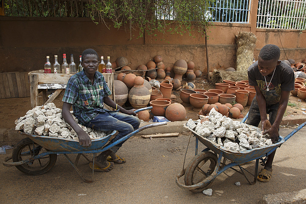 Market in Niamey, capital of Niger Photograph by Ute Grabowsky
